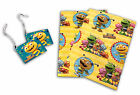 Henry Hugglemonster Wrapping Paper Gift Wrap+Tag Birthday Event Gift Kids Funny