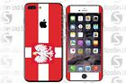 Polish/Poland Flag iPhone 5/5C/5S 6/6Plus 6S/6S Plus 7/7Plus Wrap Decal Skin