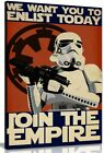 Star Wars Propaganda Enlist Join The Empire Canvas Wall Art Picture Print £39.99 GBP