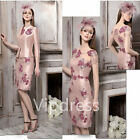 Pink Mother Of The Bride Dresses Flowers Lace Appliques Party Gowns Keen Length