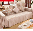 L Flower Cotton Linen Slipcovers Sofa Cover Protect OauR 1 2 3 4 seater Brown