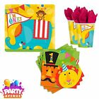 Fisher Price Circus Napkins Plates Cups 1st Birthday Party T