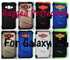 Rugged Case, Holster, Tempered Glass Screen Protector for Samsung Galaxy J3