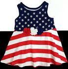 NWT Jumping Beans Red White Blue, Stars & Stripes Dress Sizes 12M, 24M