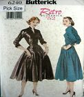 Butterick Sewing Pattern 6240 Ladies Size 8 Retro 50s Rockabilly Dress