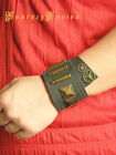 Steampunk Traveller Industrial Post-Apocalyptic Sci Fi Gears Leather Cuff Bracer