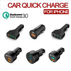 Aukey Quick Charge 3.0 3-Port USB Car Charger Quick Charge For Apple iPhone NEW