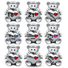 Teddy Bear Love Heart Charm Bead - 925 Sterling Silver - Ideal Christmas Gift