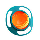 Baby Kids Non Spill Gyro Feeding Toddler Bowl 360 Rotating Avoid