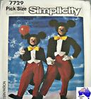 Simplicity Sewing Pattern 7729 Kids 6-8 Adults Mickey Mouse Tails Suit Costume