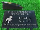 granite pet dog memorial plaque grave marker personalised