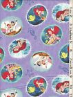 Disney Princess Ariel Little Mermaid Panel & Coordinating Fabric SOLD SEPARATELY