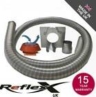 Flexible Multifuel Stove Flue Liner Pack/Kit Anti Down Draught Cowl Class 1 316