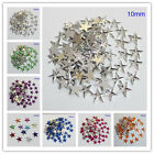 10MM Five Star Flatback Rhinestone Scrapbook Acrylic Diamond DIY Craft Decor