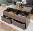 Ultimate Storage Coffee Table New Modern Design 2 Drawer Lift Up Living Room