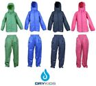 DRY KIDS Adult Waterproof Jacket and Overtrousers Set Rainwear for Men and Women
