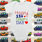 Happy 1st First Fathers Day Baby Grow Body Suit Vest Keepsake ALL SIZES #77