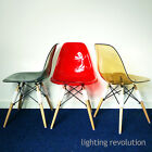 Ghost Eiffel Style DSW Dining Chair Transparent Amber Red Smoke Designer