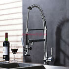 Fashion Chrome Spring Pull Down Kitchen Sink Faucet Mixer Tap Deckt Wash Faucet