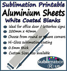 200x40mm ALUMINIUM SHEETS for SUBLIMATION coated blank metal sheet sign blanks
