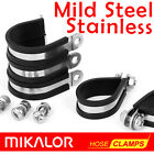 Zinc Plated Mild Steel - or - Stainless Steel | Rubber Lined P Clips | Mikalor