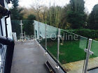 10mm Toughened Glass Panels Balustrade Railing Glazing, Stainless Steel Poles