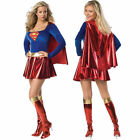 Ladies Supergirl Super Girl Hero Woman Fancy Halloween Superhero Costume