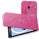 Leather Sparkly Glitter Bling Diamond Flip Case Cover Pouch for Various Models