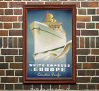 CP White Empress of Europe Vintage Travel Poster [6 sizes, matte+glossy avail]