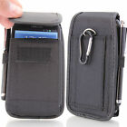 Rugged Nylon Vertical Wallet Belt Pouch Cover For Huawei Various Models