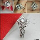 1.5CTW Disney Princess Sterling Silver 925 Flower Engagement Ring Promise Ring