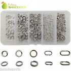 150/200pcs Stainless Steel Round Oval Double Split Rings Kit Tackle Connectors