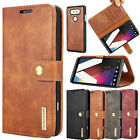 Flip Genuine Leather Removable Case Magnetic Card Stand Cover Skin For LG G6 V20