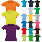 New Womens Skinny Ladies Safran Fitted Cotton Colar Cuffs Polo Shirt Size XS-2XL