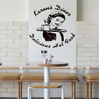 PERSONALISED DINER WAITRESS Trailer Catering Van CAFE Wall Art KITCHEN