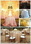 "Sequin Tablecloth 48"" - 156'' Round for Party/Wedding Table Bridal Dinning Table"