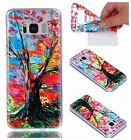 Shockproof Painting Clear Rubber Silicone Soft TPU Back Case Cover for Phones