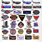 Triumph BSA Norton Cafe Racer British Motorcycles Biker Racing Sports Iron Patch $3.49 USD