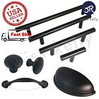 Matte Black Kitchen Door Cabinet Handle T Bar Pull Steel Drawer Knob Hardware