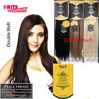 Rush Silky Luxati 8pcs DOUBLE WEFT Clip In  Remy 100% Human Hair Extension