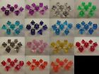 Gem Poly 7 Dice RPG Set Red Blue Yellow Black White Purple Green Orange Clear