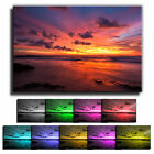 Bright Sea Sunset LANDSCAPE CANVAS Wall Art Print Picture Various Sizes 14 TAB