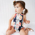 Summer Toddler Newborn Baby Girl Floral Lace Romper Sunsuit Beachwear Outfits UK