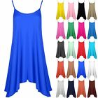 Womens Ladies Sleeveless Camisole Flared Strappy Long Swing Dress Vest Top 8-22
