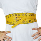 Mad Design Style One Size Fits Most Womens Daisy Laser Cut Stretch Belt