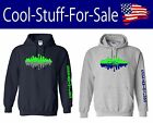 Seattle Seahawks Skyline Football Pullover Hooded Sweatshirt $33.59 USD on eBay