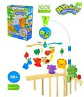 BABY SMOOTH MUSICAL MOBILE NURSERY TODDLERS BELL ANIMAL TOYS COT BED WIND-UP