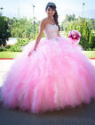 Elegant Pink Quinceanera Dress Ball Gowns Sweetheart Prom Party Sweet 16 Dresses