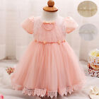 Baby Newborn Girl Birthday Party Toddler Tutu Clothes Lace Christening Gowns