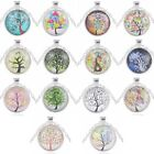 Vogue Women Silver Chain Tree Of Life Cabochon Pendant Necklace Lots
